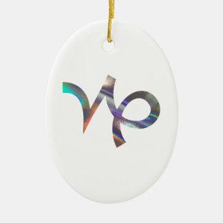 hologram Capricorn Ceramic Ornament