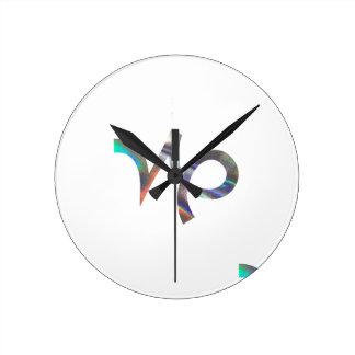 hologram Capricorn Round Clock