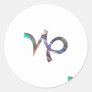 hologram Capricorn Round Sticker