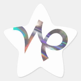 hologram Capricorn Star Sticker