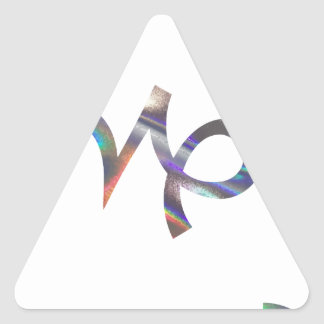 hologram Capricorn Triangle Sticker