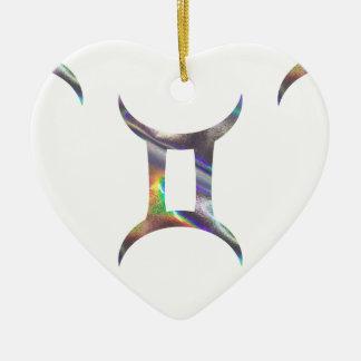 hologram Gemini Ceramic Ornament