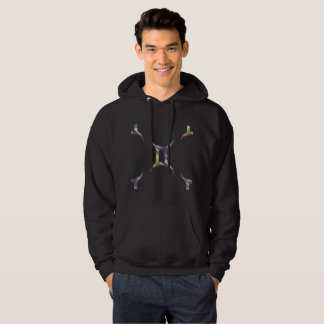 hologram gemini hooded hoodie mens sweatshirt