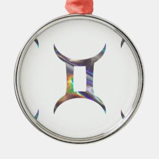 hologram Gemini Metal Ornament
