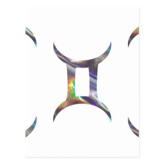 hologram Gemini Postcard