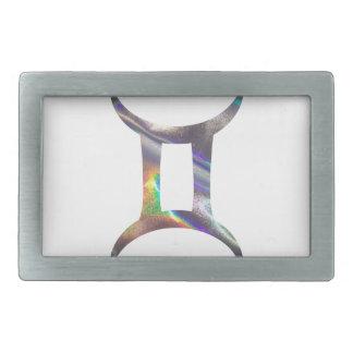 hologram Gemini Rectangular Belt Buckle