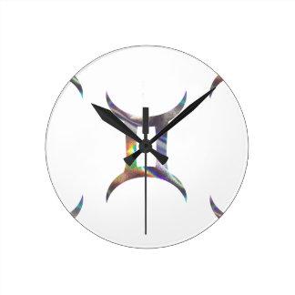 hologram Gemini Round Clock