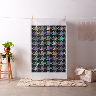 hologram houndstooth fabric
