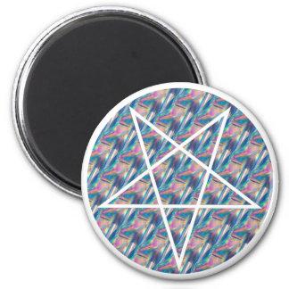 hologram pentagram 2 inch round magnet