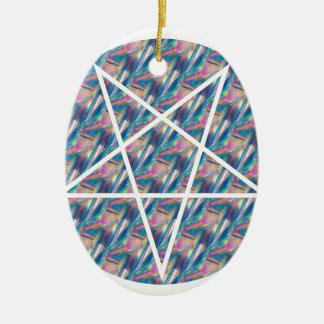hologram pentagram ceramic oval ornament