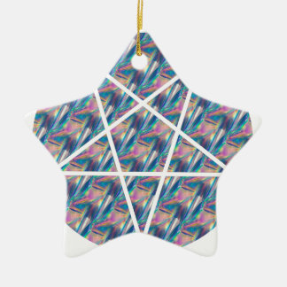 hologram pentagram ceramic star ornament
