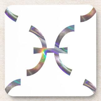 hologram Pisces Coaster