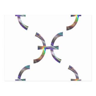 hologram Pisces Postcard