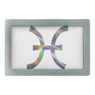 hologram Pisces Rectangular Belt Buckle