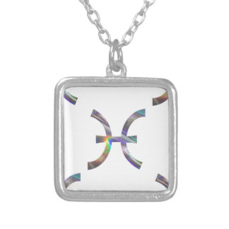 hologram Pisces Silver Plated Necklace