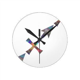 hologram Sagittarius Round Clock