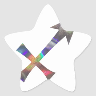 hologram Sagittarius Star Sticker