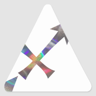hologram Sagittarius Triangle Sticker