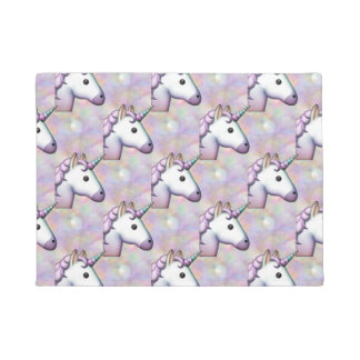 hologram unicorn emoji doormat door mat