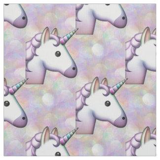 hologram unicorn emoji fabric