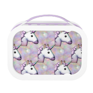 hologram unicorn emoji lunchbox lunch box