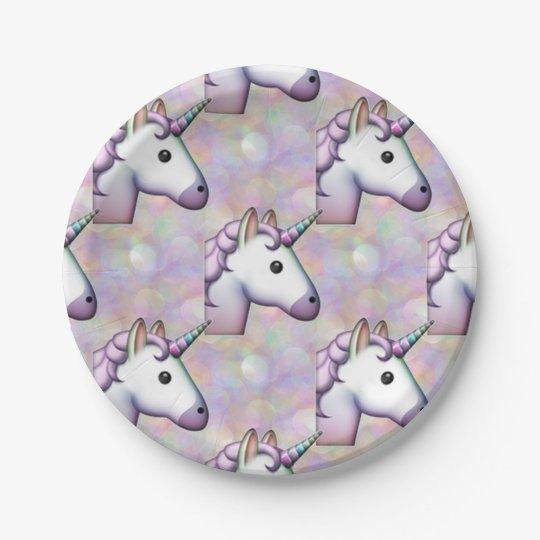 hologram unicorn emoji paper plates 7 inch paper plate