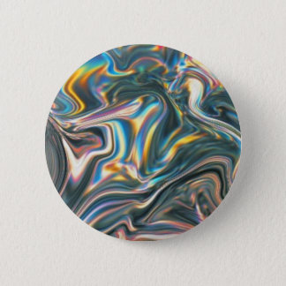 Holographic Chrome 2 Inch Round Button