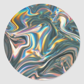 Holographic Chrome Classic Round Sticker