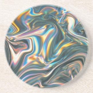 Holographic Chrome Coaster