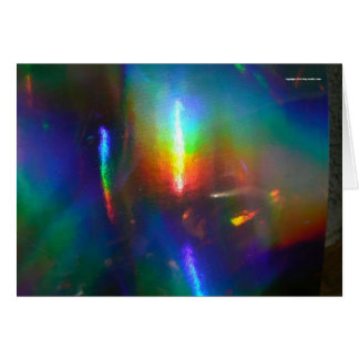 Holographic Flame Card