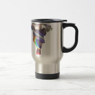 holographic flapper travel mug