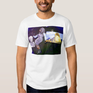 holographic image projected from the time machine t shirt
