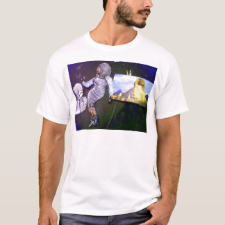 holographic image projected from the time machine T-Shirt