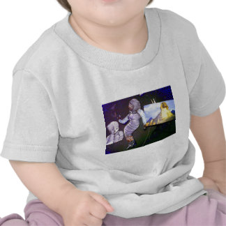 holographic image projected from the time machine tshirts