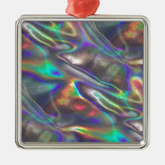 holographic metal ornament