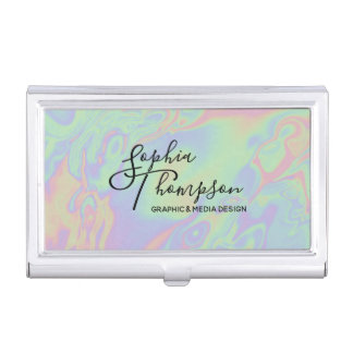 Holographic Rainbow Pastel - Business Card Holder