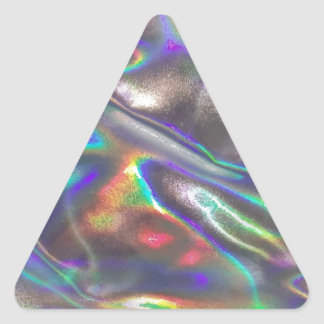 holographic triangle sticker