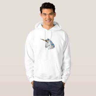 holographic unicorn mens hooded sweatshirt hoodie