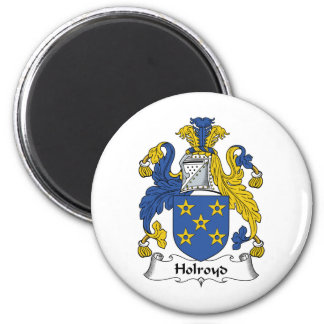 Holroyd Family Crest 2 Inch Round Magnet