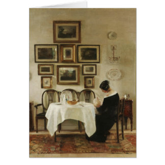 Holsøe Mother and child in a dining room CC0463 Card