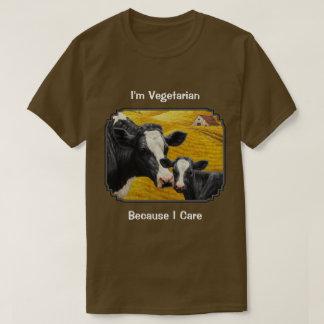 Holstein Cow and Calf Farm Vegetarian T-Shirt