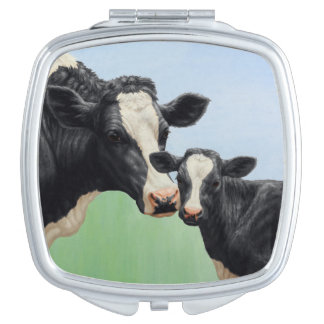 Holstein Cow and Calf Makeup Mirror