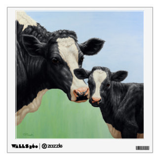 Holstein Cow and Calf Wall Sticker