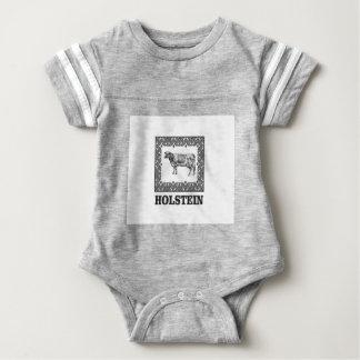 Holstein cow baby bodysuit