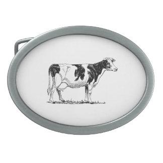 Holstein Cow Belt Buckle
