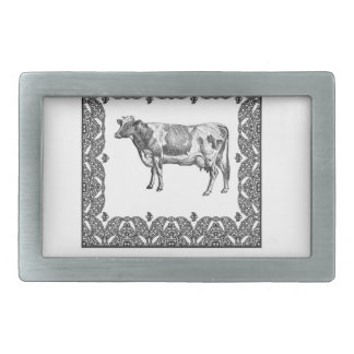 Holstein cow belt buckle