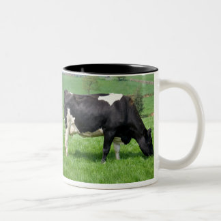 Holstein Cow Grazing Mug