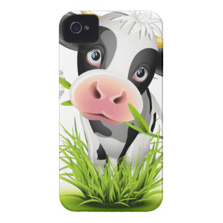 Holstein cow in grass iPhone 4 cases