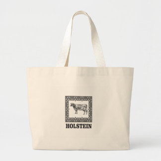 Holstein cow large tote bag