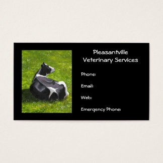 Holstein Cow Original Painting Veterinary Services Business Card